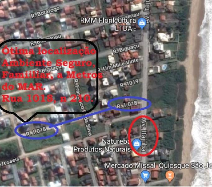 Alugo Apartamento Mobiliado em Itajuba - SC 2 Quadras do Mar