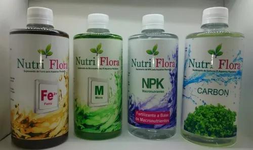 Fertilizantes Ferro + Micro + Npk + Carbon Nutri Flora 250ml