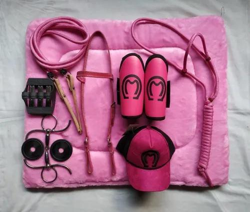 Kit Para Montaria Rosa Pink Oferta Especial Fim De S