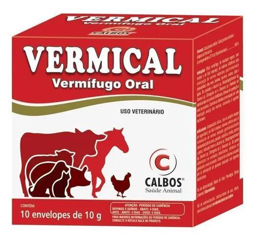 Vermical Cx C/ 10 X 10 Gr - Calbos (Vermifugo Oral P/ Aves)