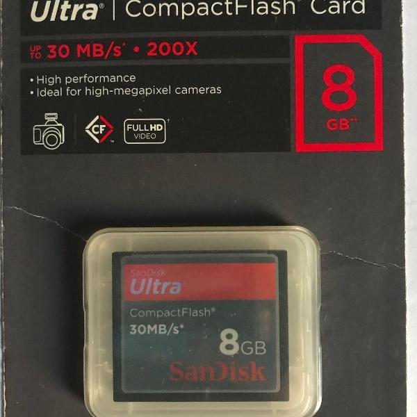cartão sandisk ultraflashcard 8gb30 mb/s -200x - lacrado!!