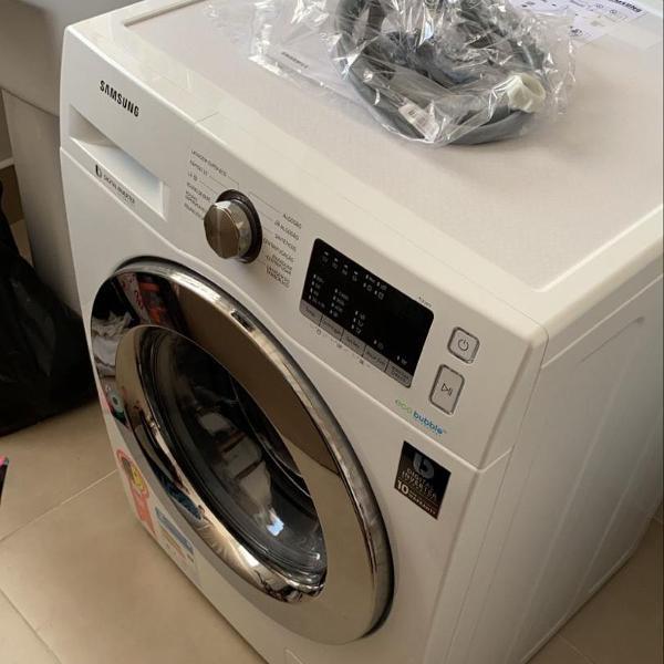 lavadora samsung ww11j44530w com ecobubble branca - 11kg