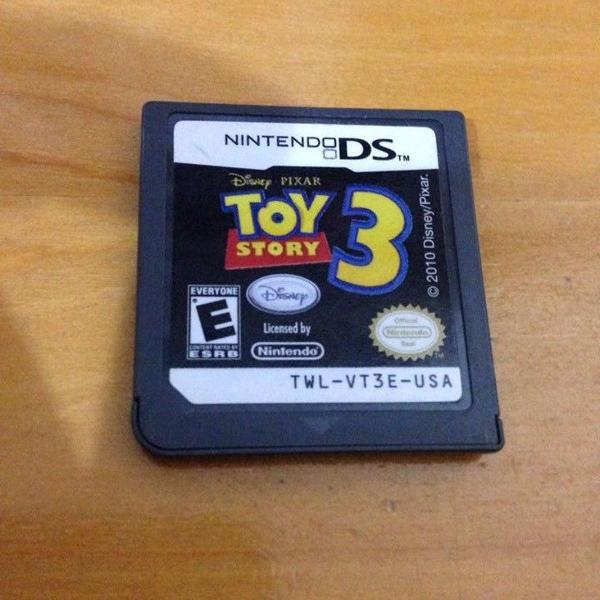 toy story 3 disney pixar só o card nintendo ds dsi r$79