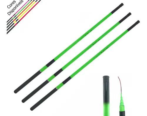 3 Varas De Mão 2,7m 40% Carbono-fluorescente 6lbs