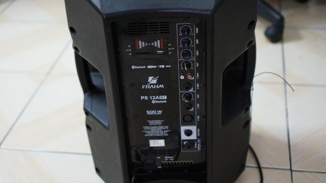 Caixa De Som Ativa 500w Frahm Ps 12 bluetooth. Semi-Nova
