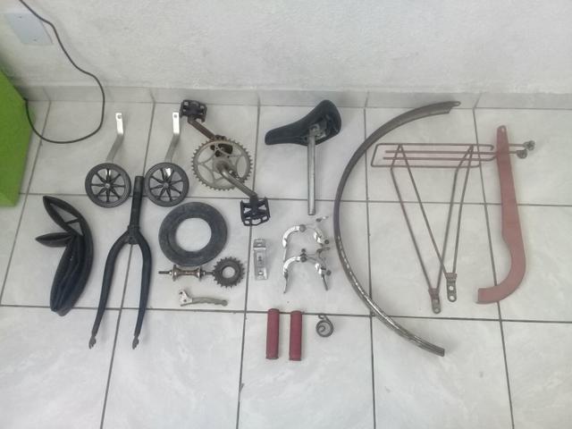Lote de peças bike antiga