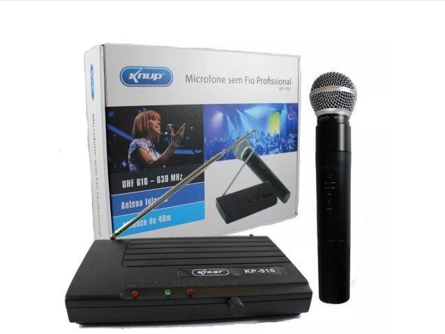 Microfone sem Fio UHF, Profissional KNUP