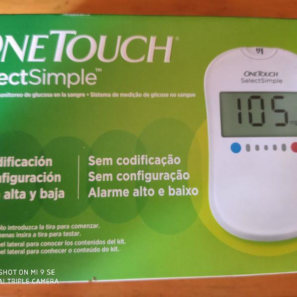 medidor de glicemia one touch select simple