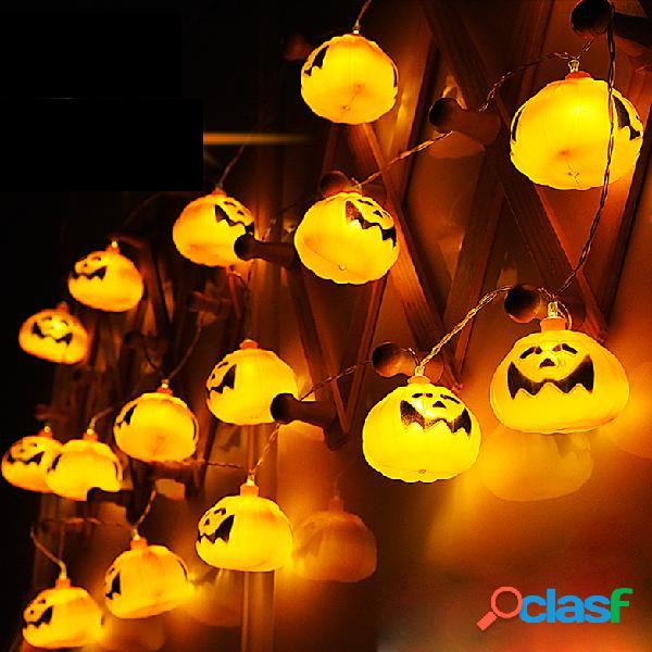 2.7M 16 LED Halloween Pumpkin String Lights Luzes de fadas