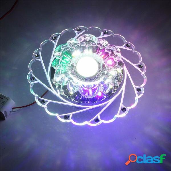3 W Modern Crystal Ceiling Azul Light Superior Lâmpada