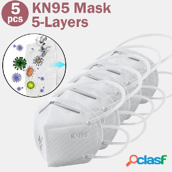 5 unidades / pacote Máscara 0f KN95 Máscaras passou no
