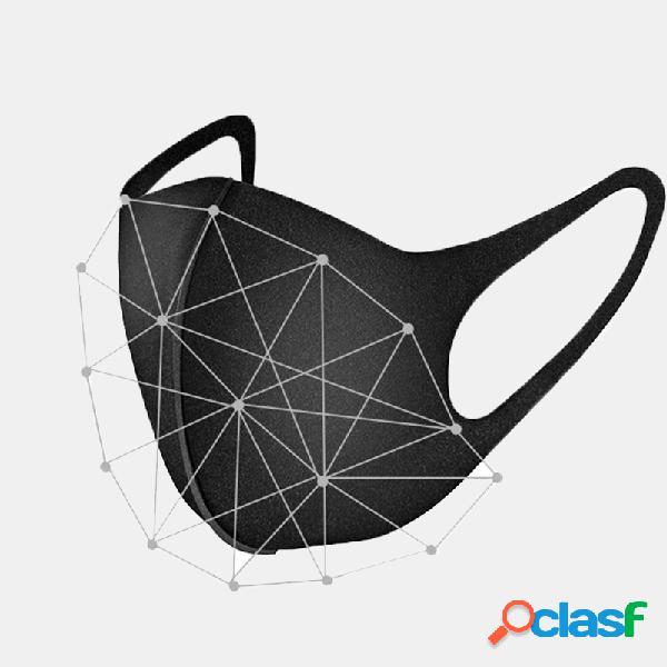 Boca preta Máscara Esponja respirável cirúrgica Máscara