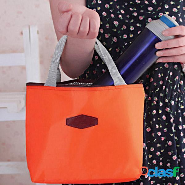 Bolsa de almoço de estudantes com camada dupla bolsa
