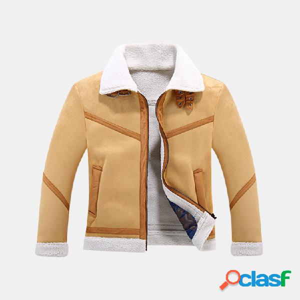 Casual Business Jacket Lapel Collar engrossar velo jaqueta