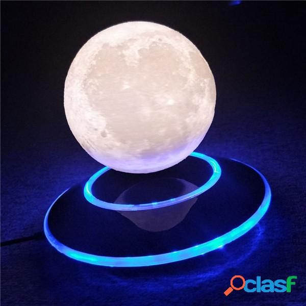 Decorações de natal Levitação Magnética 3D Moon Lamp