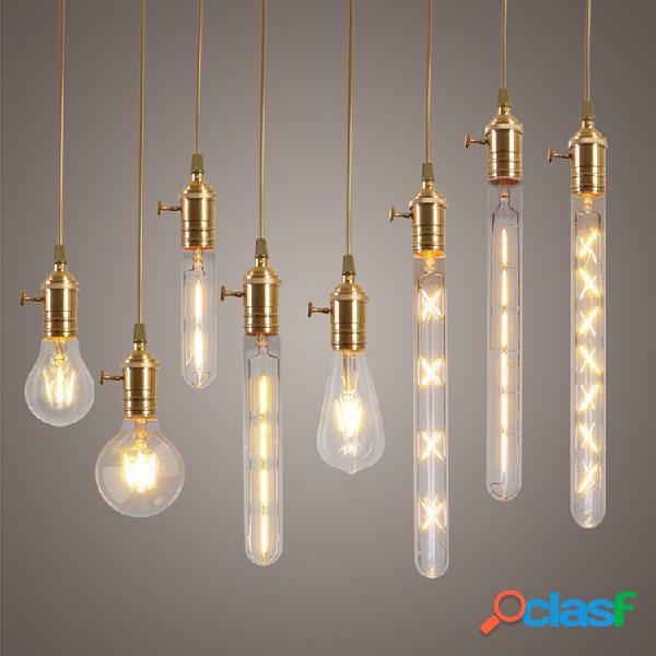 Dimmable E27 LED Edison COB Bulbs Retro Filamento clássico