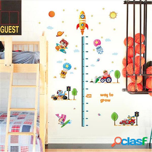 Espaço Foguete Altura Gráfico Medida kids room decalques