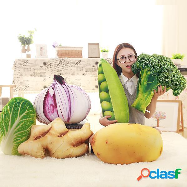 KCASA KC Criativo Simulação Almofada de Legumes Brócolis