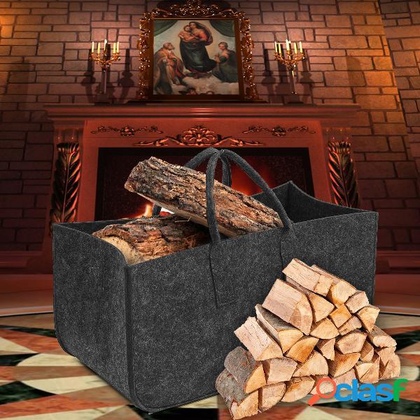 Lareira de feltro madeira Armazenamento saco