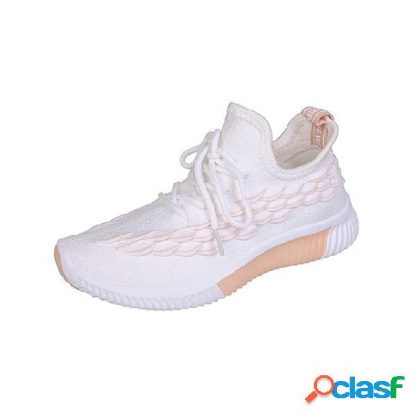 Mulheres sapatos casuais respiráveis esportes