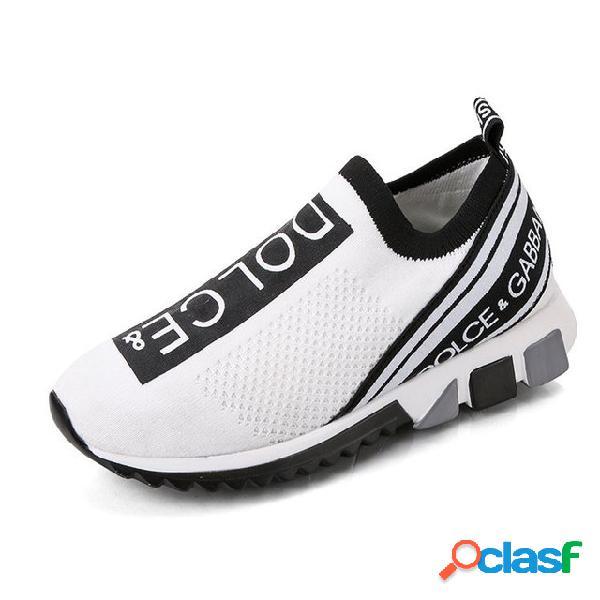 Mulheres tamanho grande esportes sapatos meias sapatos