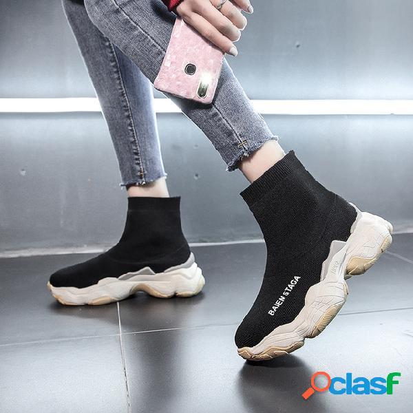 Novas Meias Meias Elásticas Sapatos Meias Selvagens das