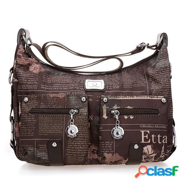 Nylon Casual Print Crossbody Bag Sacos de compras Bolsas de