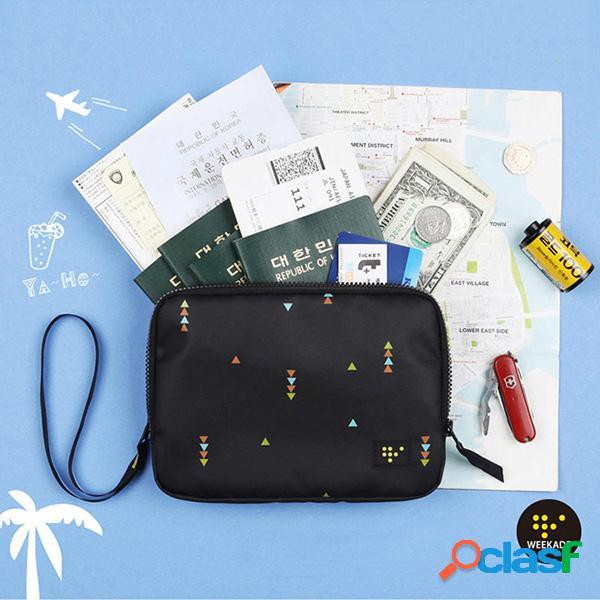 Organizador de portador de passaporte de camada dupla de