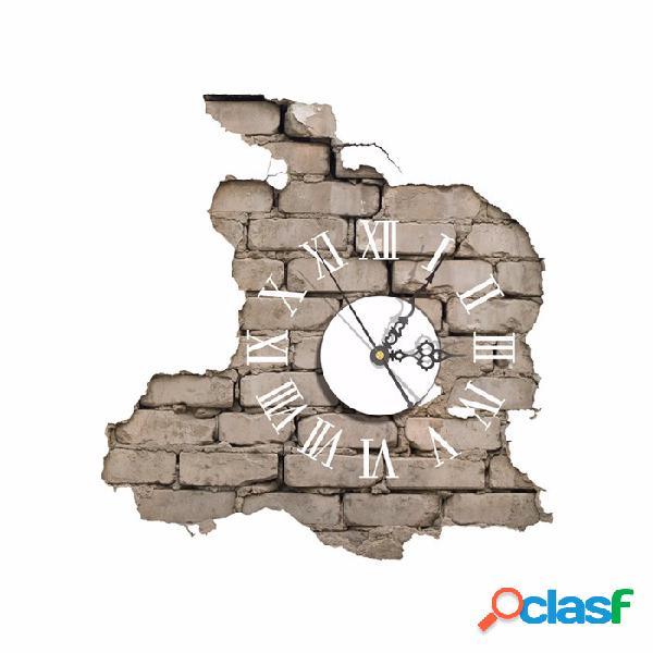 PAG STICKER Decalques de relógio de parede 3D que quebram