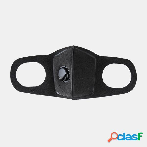 PM2.5 Face de esponja Máscara Válvula de respiração à