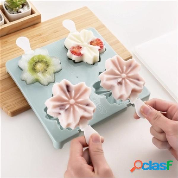 Pata De Morango Flor De Cerejeira Forma Ice Cream Moldes