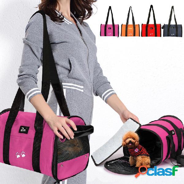 Pet Dog Puppy Cat Portátil Travel Carrier Tote Cage Bag