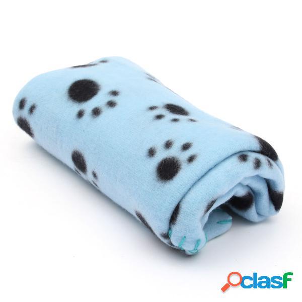 Pet cobertor pata impressão toque macio mat cachorros