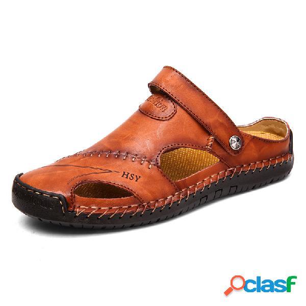 Sandálias Artesanais MAcios De Costura De Couro De Dedo De
