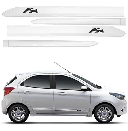 Friso Lateral Ford Ka Branco Artico 15 A 19 H/s Cor = Carro