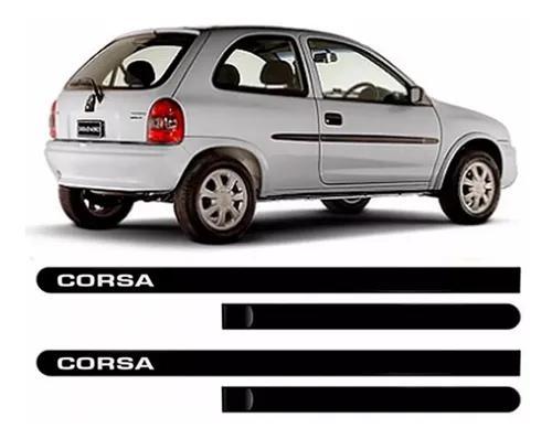 Friso Lateral Personalizado Corsa Até 2001 - 2 Portas Preto