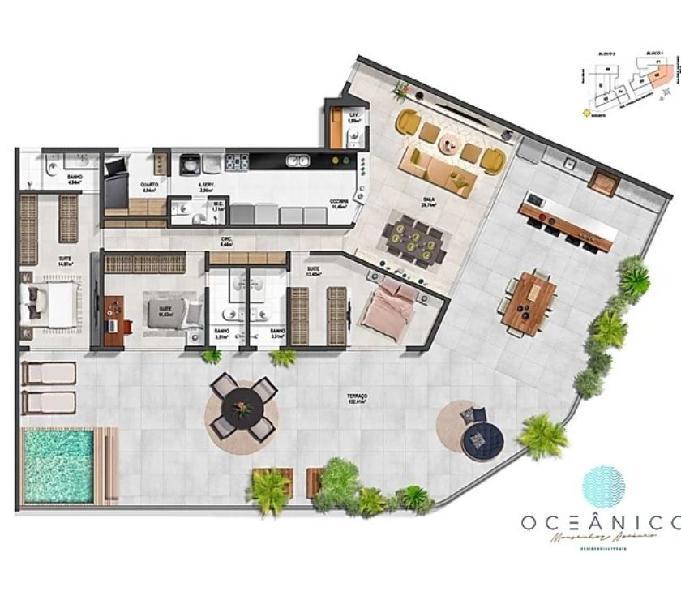 Jardim Oceânico - Cobertura Barra da Tijuca 226m² Nova