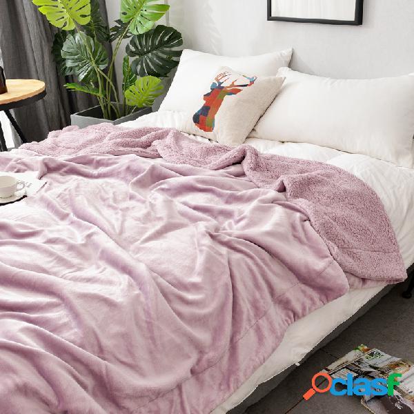 150 * 200/200 * 230 cm Inverno Shearling Croal Cobertor De