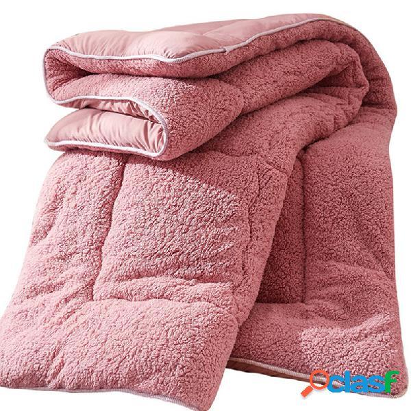 4Kg Engrossar Shearling Cobertor Inverno Soft Colcha de Cama