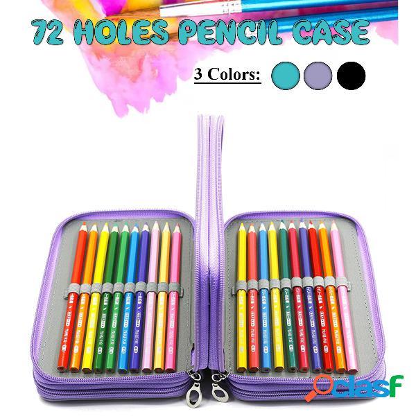 Lápis escolar Caso 72 furos Lápis Penal Caso para meninas