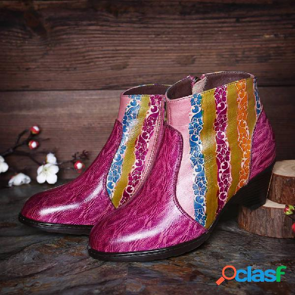 SOCOFY Listras de arco-íris pintadas à mão que costuram