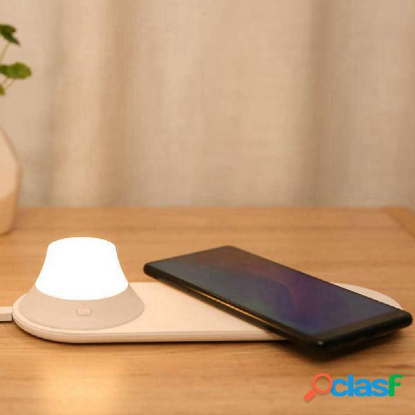 Yeelight carregador sem fio com LED noite luz atração