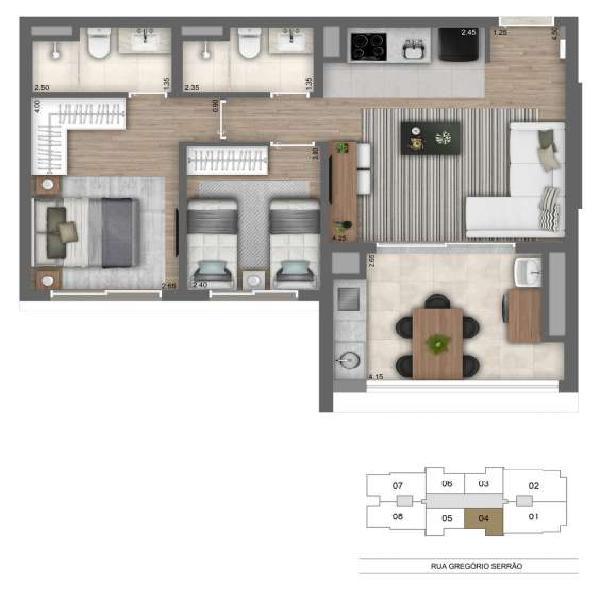 Apartamento à venda no bairro Jardim Vila Mariana em São