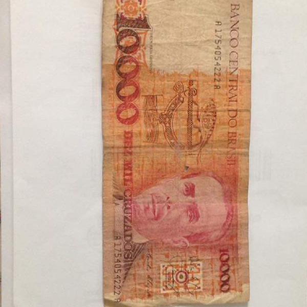 cédula 10000 cruzados estado regular ver fotos R$18