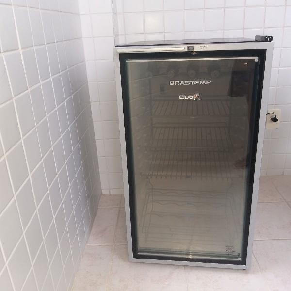 frigobar brastemp club inox com porta de vidro 120 litros