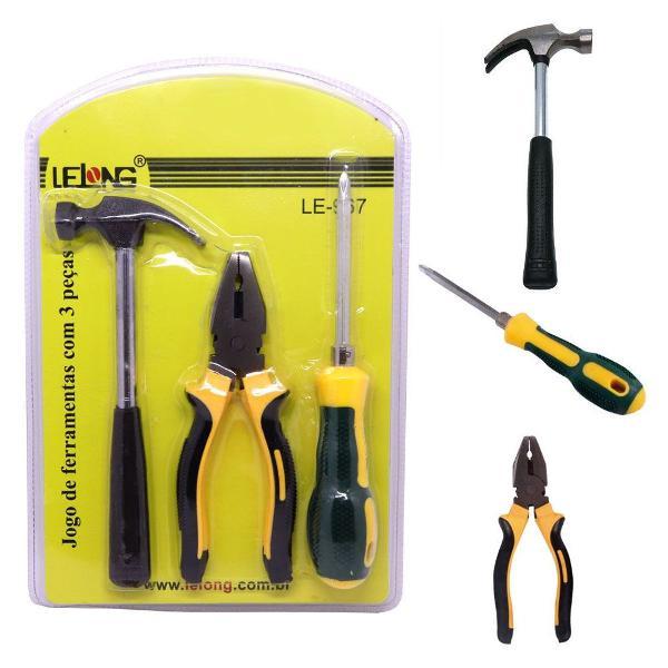 kit jogo de ferramentas com 3 peças le-967
