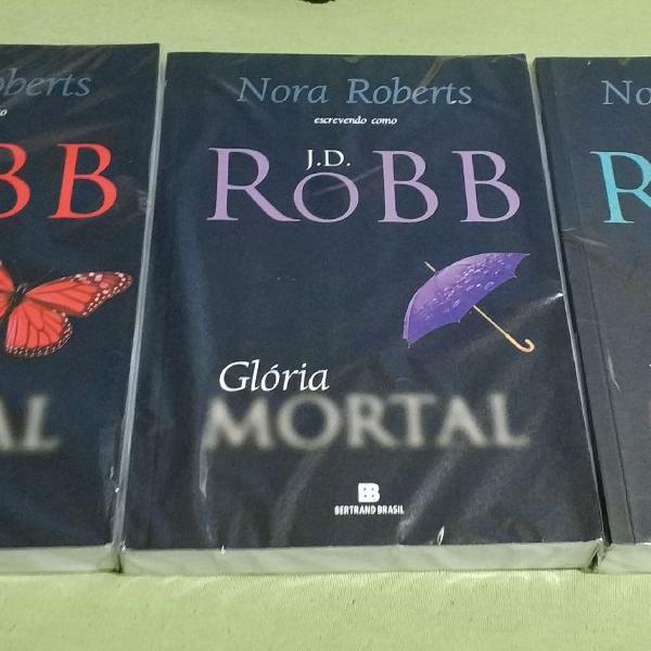 3 livros série mortal Nora Roberts