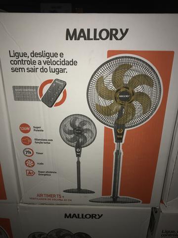 Ventilador de pé Mallory 40 6 pás com controle remoto -