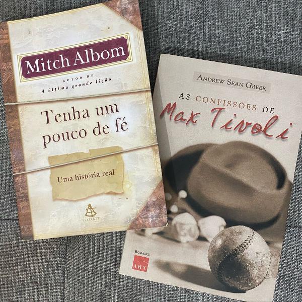 livros as confissões de max tivoli e tenha um pouco de fé