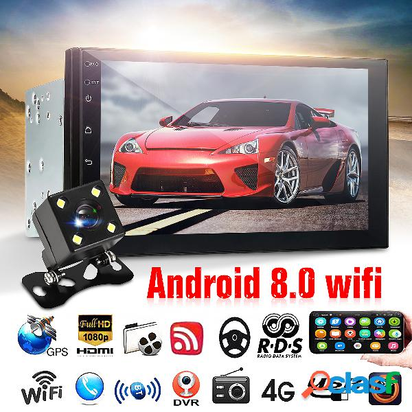 7 polegadas carro MP5 Player para Android 8.0 2.5D tela GPS